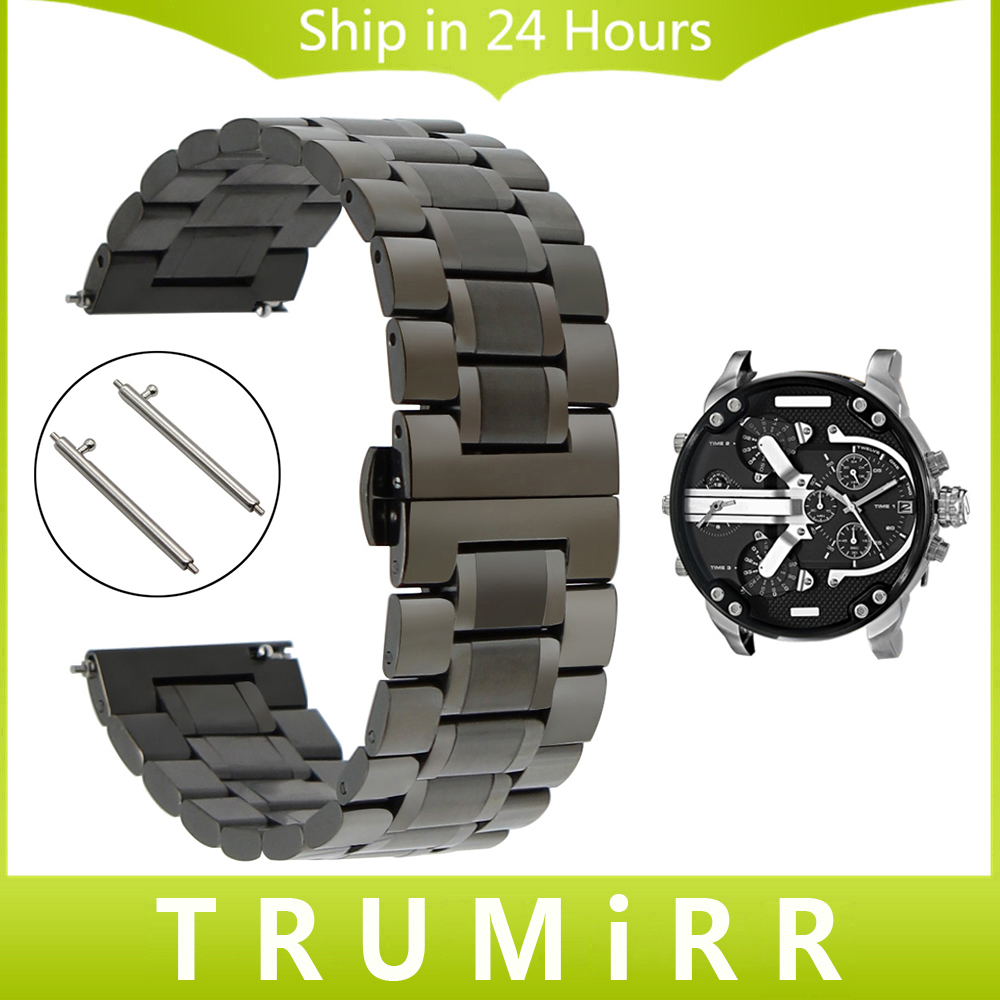 Quick Release Stainless Steel Watch Band Tool for Diesel Men Women Butterfly Buckle Wrist Strap Link