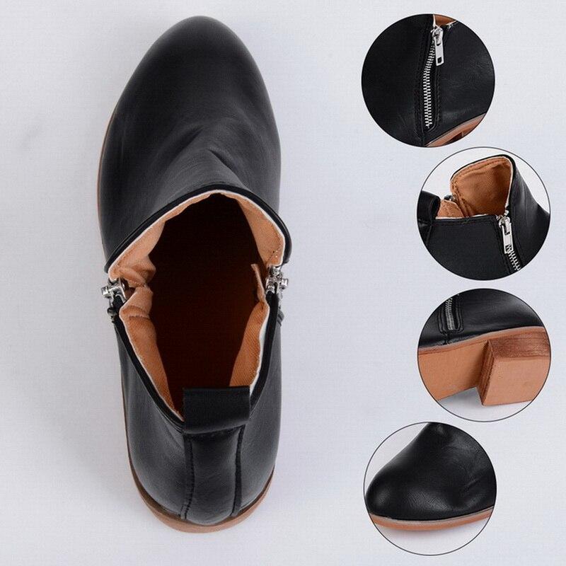 Primavera Tacón De negro Damas Chicas Sapato Green Botas Zapatos leopard Style Botines Grueso Lasperal La Martin Chaussure Cuadrado 2019 brown Bajo Mujer navy EYAqOU