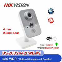 Hikvision DS 2CD2442FWD IW 4MP wireless IP Camera POE Cube CCTV Network Camera SD Card Slot IR WiFi Camera Baby Monitor