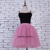 7 Layers Midi Tulle Skirt For Girls American Apparel Tutu Skirts Women Ball Gown Party Petticoat