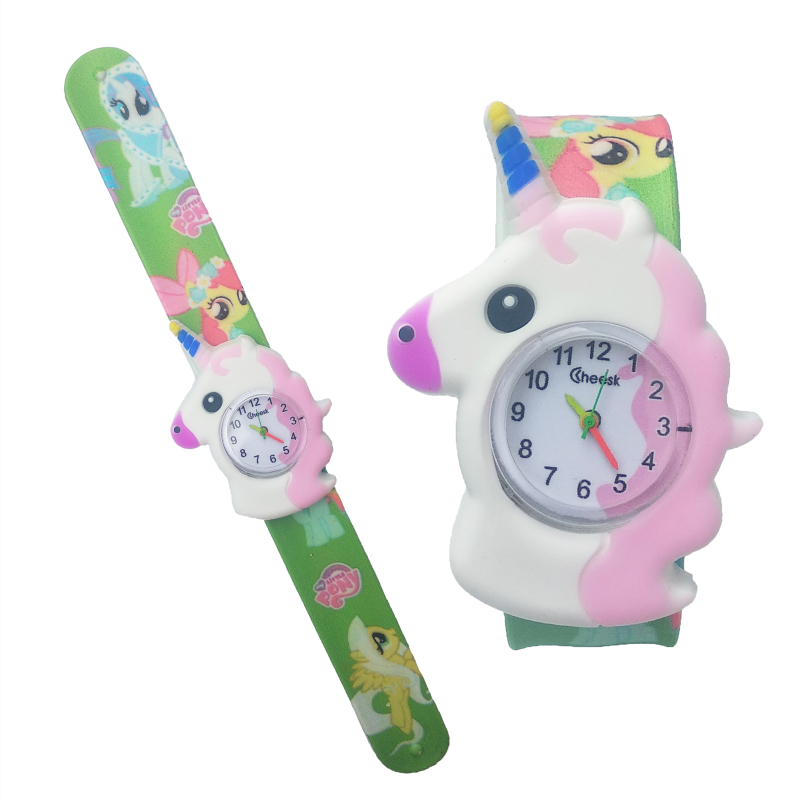 2020 New Cartoon Horse Children Watches Boys Girls Digital Baby Watch Kids Toy Patted Wristwatch Birthday Party Gifts Clock