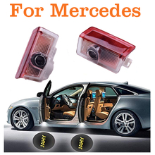 4 PC 12V LED car door laser projector logo emblem Welcome Shadow Lamp for Mercedes / Benz W212 W176 4matic E B C ML GL Class