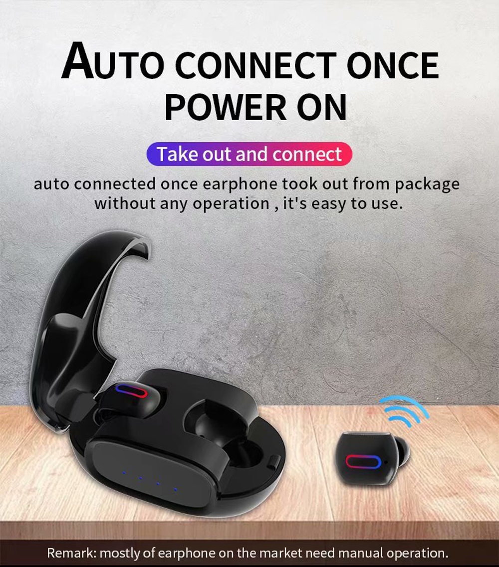 G2 TWS Bluetooth 5 0 Wireless Earphone Sports IPX5 Waterproof Touch Screen Earbuds Noise Cancelling Call Headset in Bluetooth Earphones Headphones from Consumer Electronics