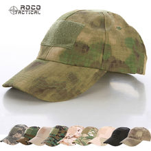 ROCOTACTICAL Military Hats Camouflage Tactical Army Fan Bionic Camping Hiking Cap Cadet Army Fan Outdoor Sports Cap CP ACU ATACS(China)