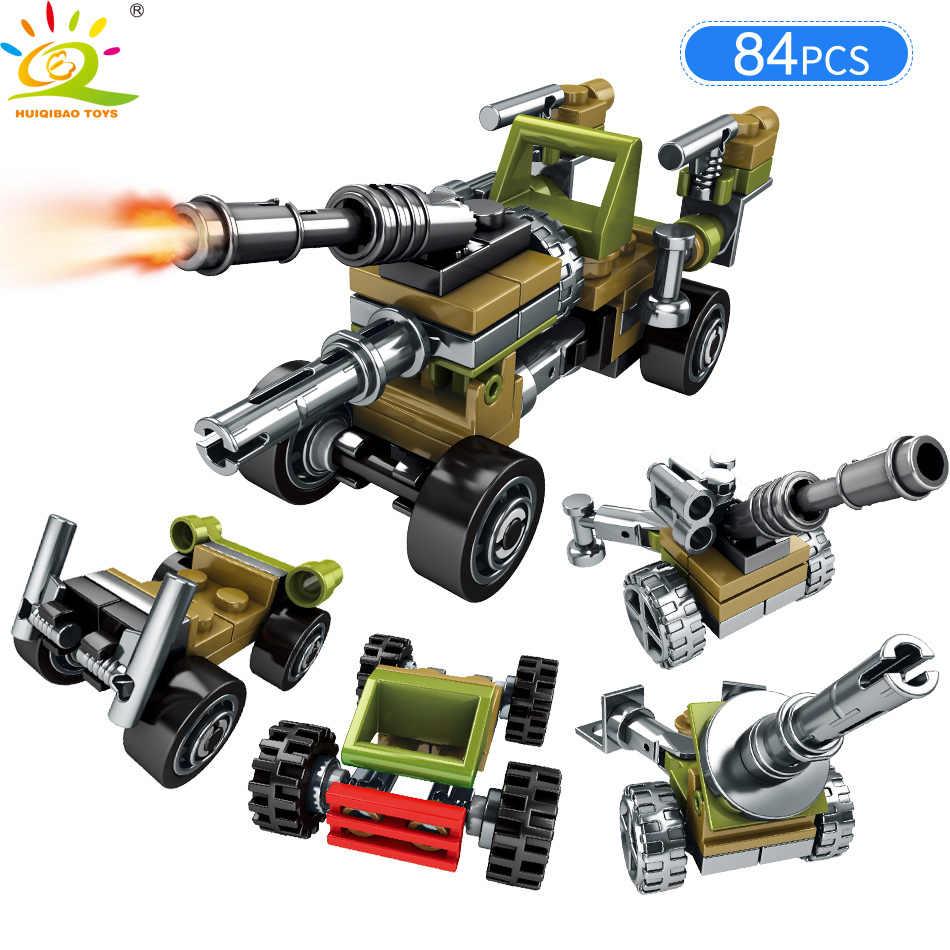 HUIQIBAO لعب 205 قطعة الجيش سفينة حربية شاحنة سلاح الطائرة اللبنات للأطفال متوافق Legoingly المركبات العسكرية الطوب