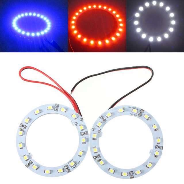 1 piece hot sale car-styling 60mm Angel Eyes LED HeadLight  Ring Light Bulb Decorative Lamp 3 Colors for Car Auto Motorcycle 2pcs 2017 new design 7 inch 40w motorcycle led auto angel eyes led headlight bulb with high quality