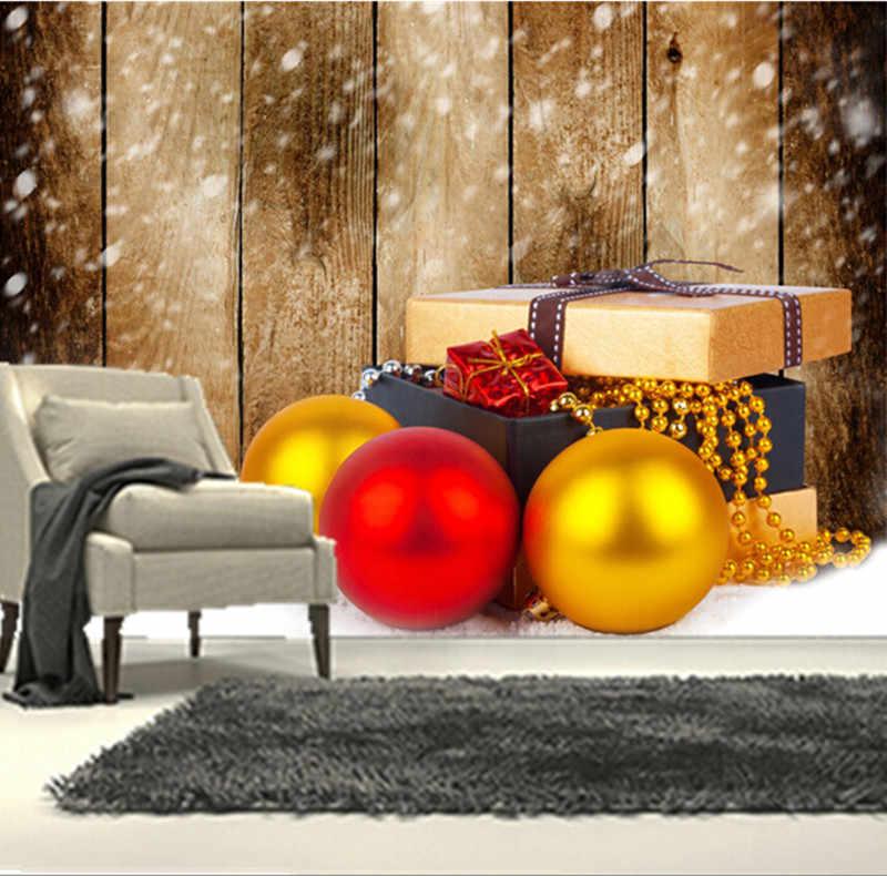 ที่กำหนดเอง3Dภาพจิตรกรรมฝาผนัง,วันหยุดคริสมาสต์ลูกของขวัญหิมะบอร์ดกระดาษde parede,โรงแรมห้องนั่งเล่นโซฟาทีวีผนังห้องนอนวอลล์เปเปอร์