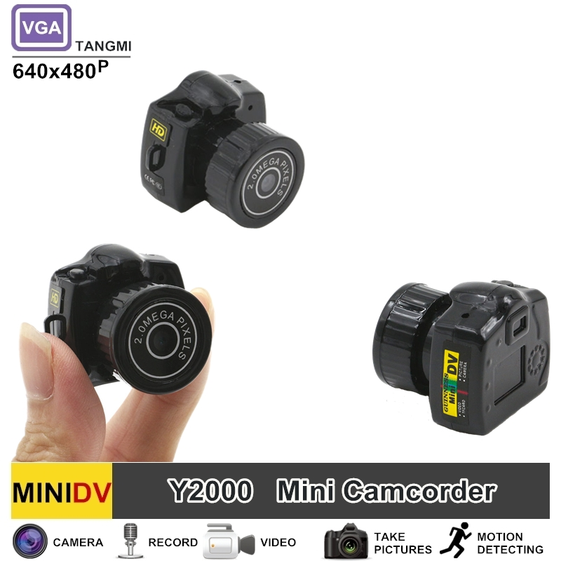 TANGMI New Y2000 Mini DV DVR Camcorder Portable Audio Video 480P Micro Camera Espia The Smallest Camera in the World