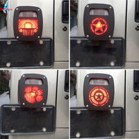 Exterior Grille Tail Light Rear Lamp Cover Guards For 1987 2006 Jeep Wrangler TJ YJ Accessories Taillight Protector WISENGEAR /