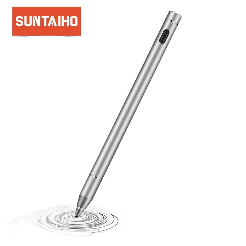 Suntaiho per Apple Matita Attivo Capacitiva di Tocco Dello Stilo Dello Schermo Nota 5 Penna per iPad da 9.7 pollici Nuovo 2017 iPad Pro 9.7 10.5 12.9
