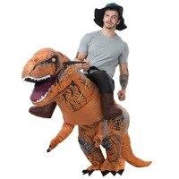 Carnival Halloween Purim costumes for adult T REX dinosaur mascot costume Inflatable premium dinosaur animal adult fancy dress