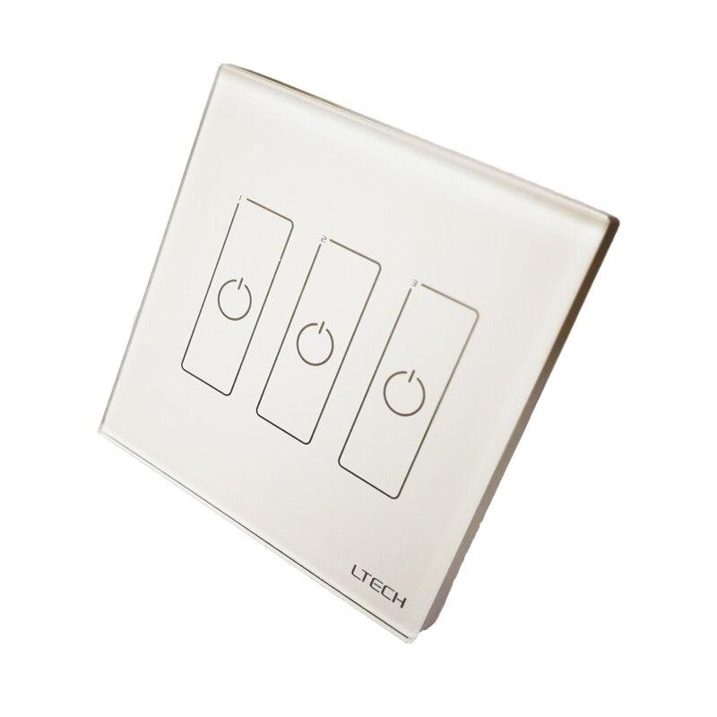 新しい EDA3 ウォールマウントタッチパネル 3CH 3 チャネル制御オン/オフスイッチ調光器 LED コントローラ Dali CV ドライバ led ライト  グループ上の ライト & 照明 からの 調光器 の中 2