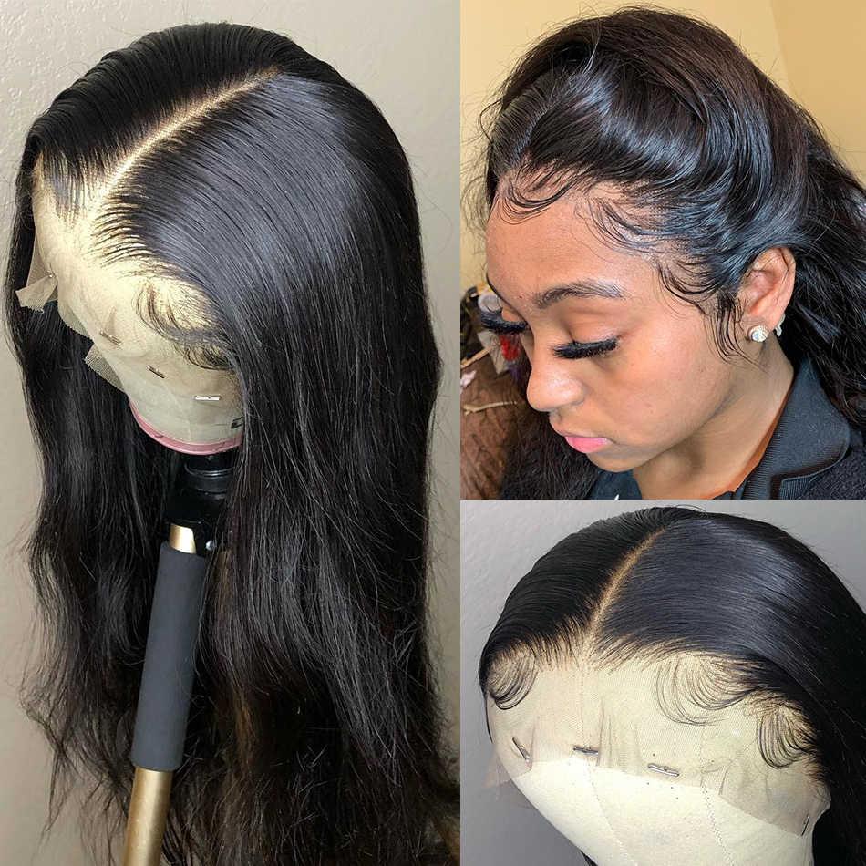 Wigirl 8-30 дюймов 250 плотность прямые 360 кружевные передние парики 13x6 кружевные передние человеческие волосы парики предварительно сорванные Детские волосы черная женщина