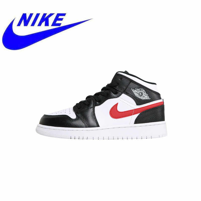 f7f9eef580ac34 High Quality Nike Air Jordan 1 Mid Whiteout  Shadow Woman Skateboarding  Shoes Outdoor Sneakers Lightweight