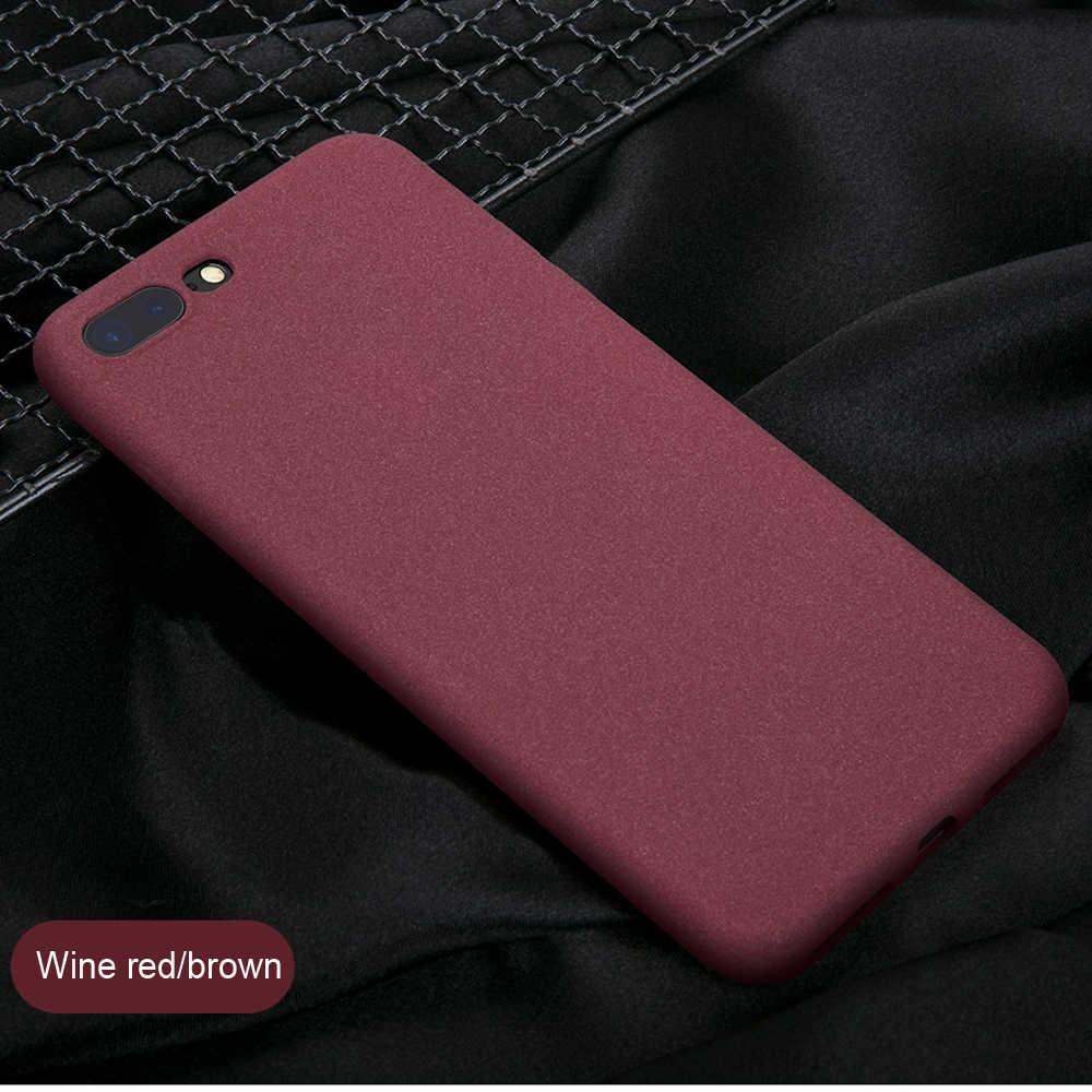 LECAYEE جديد الأصلي حالة ل أبل فون 7 6s 8 زائد X R XS 5S حالة غطاء كامل TPU لينة ماتي اللمس يشعر عودة حالة وقائية