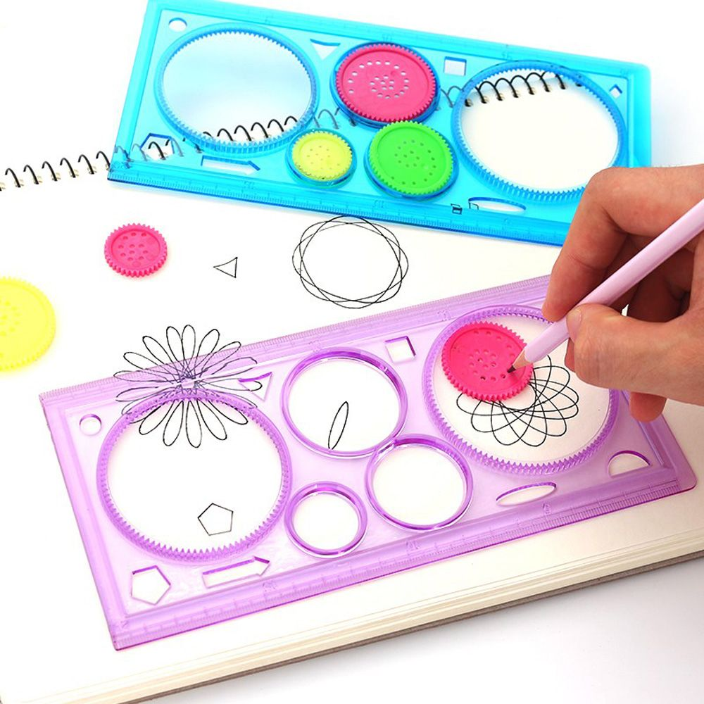 2pcs/set Antistress Drawing Board Crafts Plastic Ruler Educational Kids Drawing Pads Toys for Children Boys Girls Coloring Child