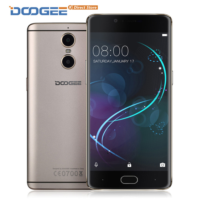 "DOOGEE SHOOT 1 4G LTE Fingerprint 5.5"" FHD 1920*1080 8MP+13MP Dual Camera Smartphone Android 6.0 MTK6737T 2GB+16GB Mobile Phone"