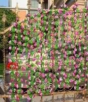 10 stks Kunstmatige Pioen Bloem Bladeren Wijnstok Gebladerte Simulatie Bloemen Wijnstok Druivenbladeren Thuis Tuin Garland Decor (Paars)