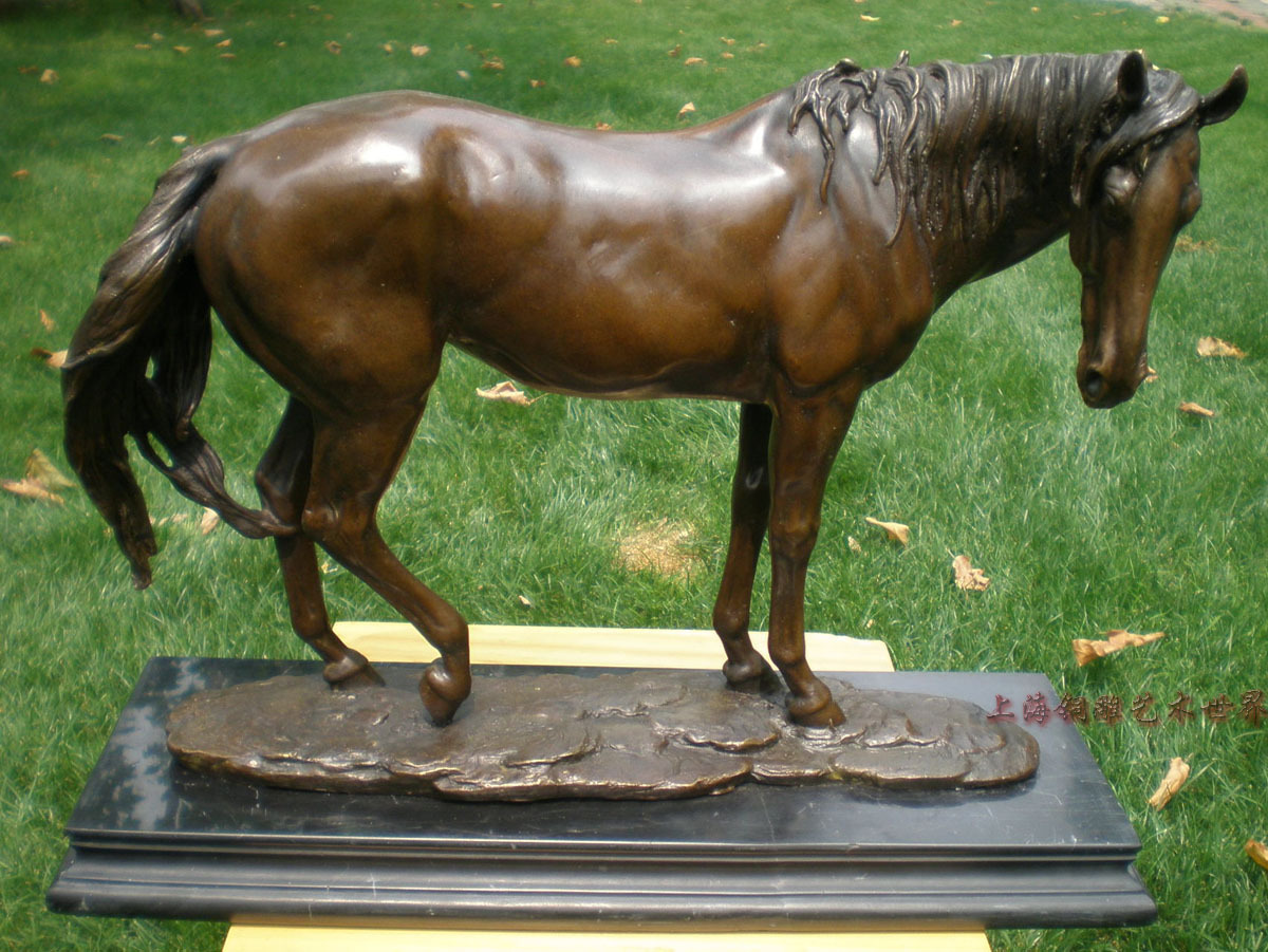 Casual horse bronze sculpture, crafts decoration home Bronze wedding watch Handwork brass statue business gift copper sculpture