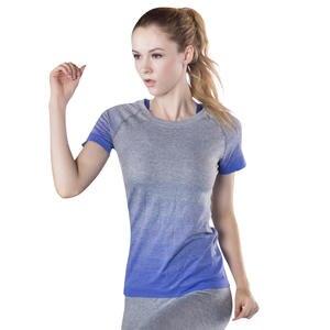 8a4aee3e23 Sport Gym T Shirt Yoga Tank Top Running Gym Short Sleeve Shirt Breathable  Ladies