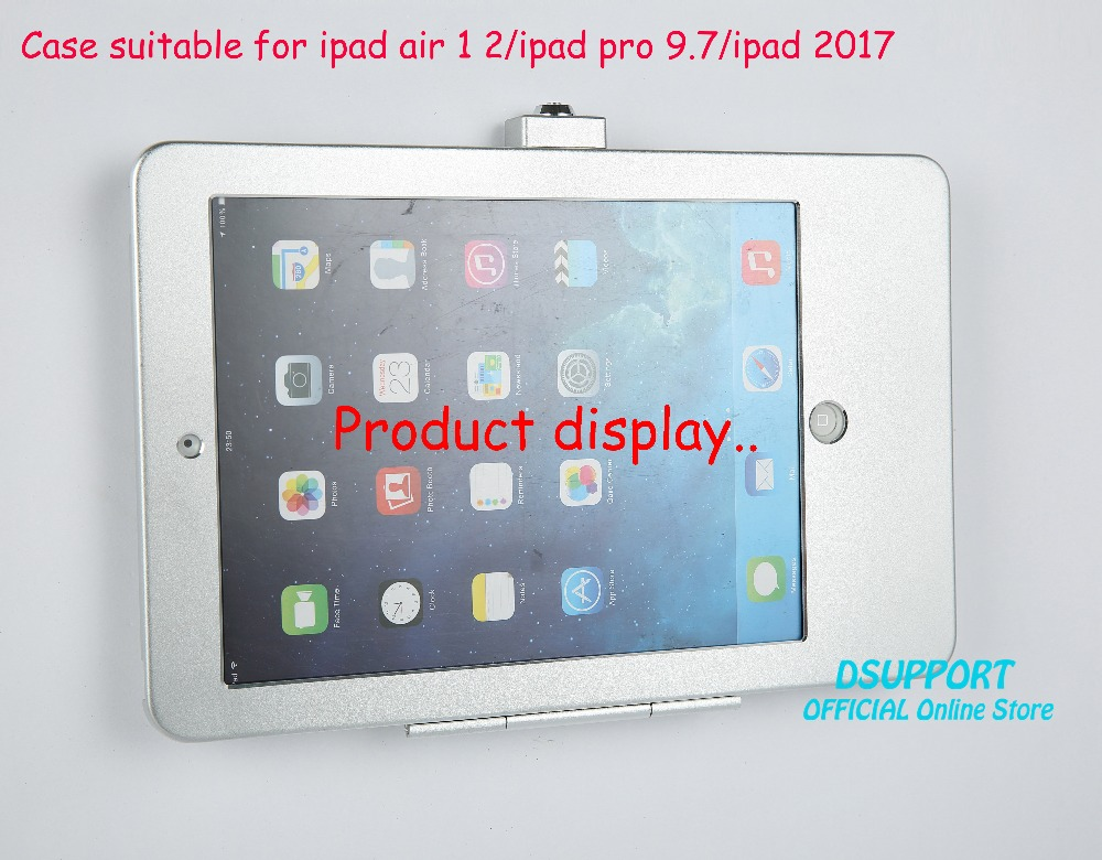 Tablet PC wall mount Anti-Theft design with security lock case suitable for ipad air 1 2 for ipad pro 9.7 for ipad 2017 аксессуары iport surface mount bezel white with 6 buttons for ipad air 1 2 pro9 7