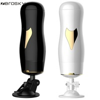 Zerosky Smart Aircraft Cup Auto Telescopic Rotating Real Voice Masturbator For Male Vagina Real Pussy Sex Toy For Men