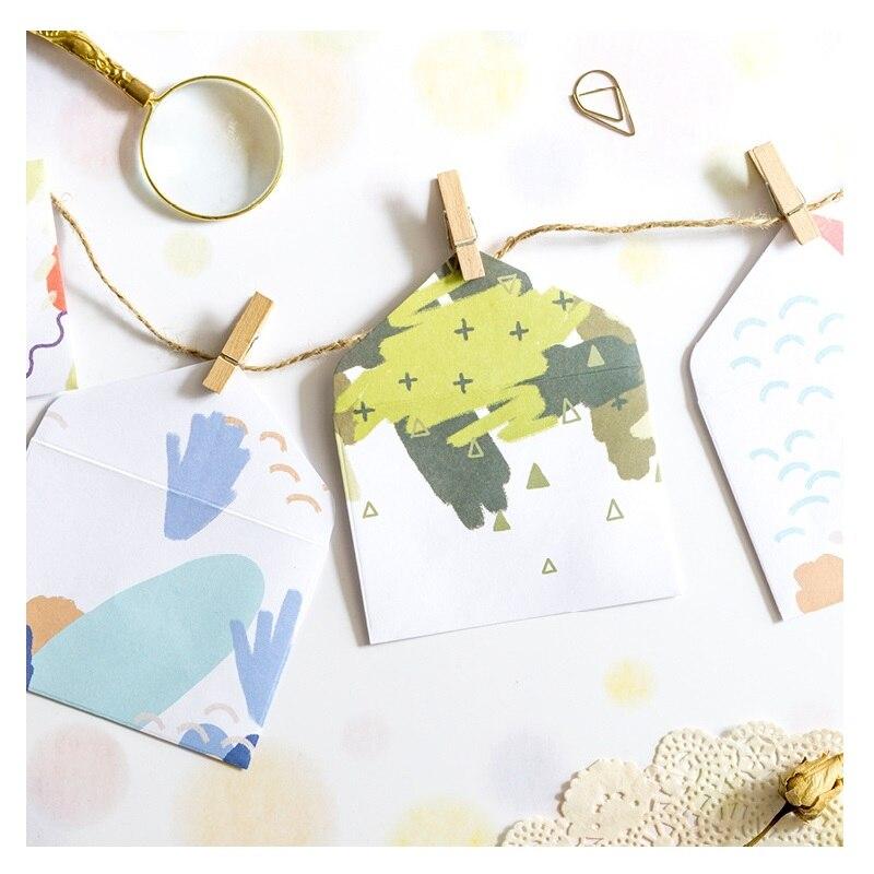12 Pcs/Set Mini Candy Colored Envelope Rainbow Memo Envelopes Korean Stationery Christmas Gift