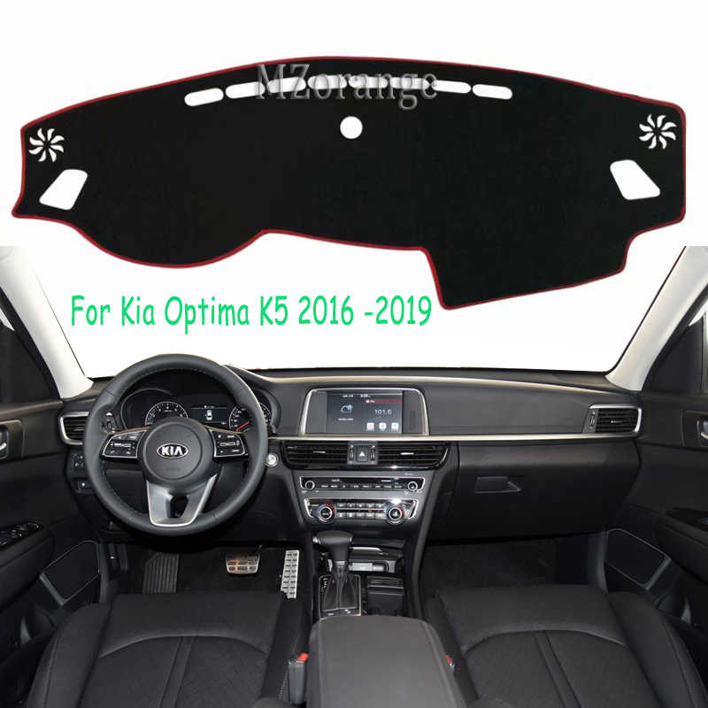 Untuk Kia Optima K5 2016-2019 Dashboard Cover Dashmat Cover Mobil Styling Dash Mat Sun Shade Capter Mencakup