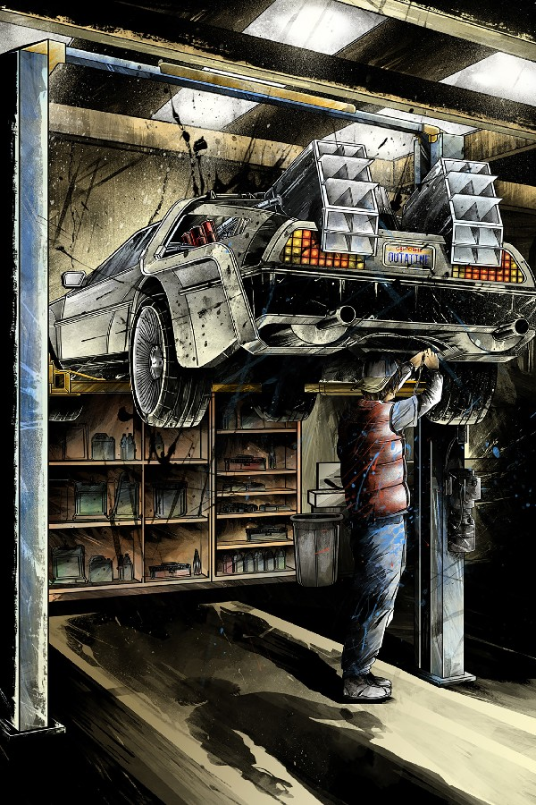 Back To the Future 1 2 3 Classic Film Art Silk Poster Living Room Wall Decor 12x18 20x30
