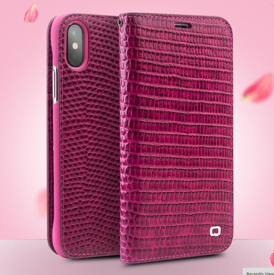 QIALINO кожаный чехол для iPhone X XS из натуральной кожи, роскошная женская сумка с отделением для карт, чехол для iPhone XS MAX XR, Модный чехол для телефо