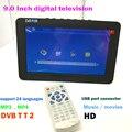Facttory доставка HD цифровой тв 16:9 аккумулятор внутри переносной автомобильный монитор монитор tv turner 9 дюймов дизайн