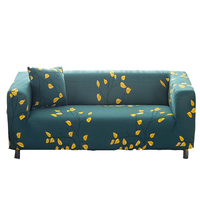 Yellow Leaves Printing Universal Furniture Covers For Living Room Multi Size Home Decoration Elastic Couch Sofa