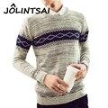 Nuevo Otoño Invierno de la Marca de Ropa Creativa Hombres Suéteres suéteres Que Hacen Punto Caliente Delgado Diseñador Ocasional de Los Hombres Prendas de Punto Outwear