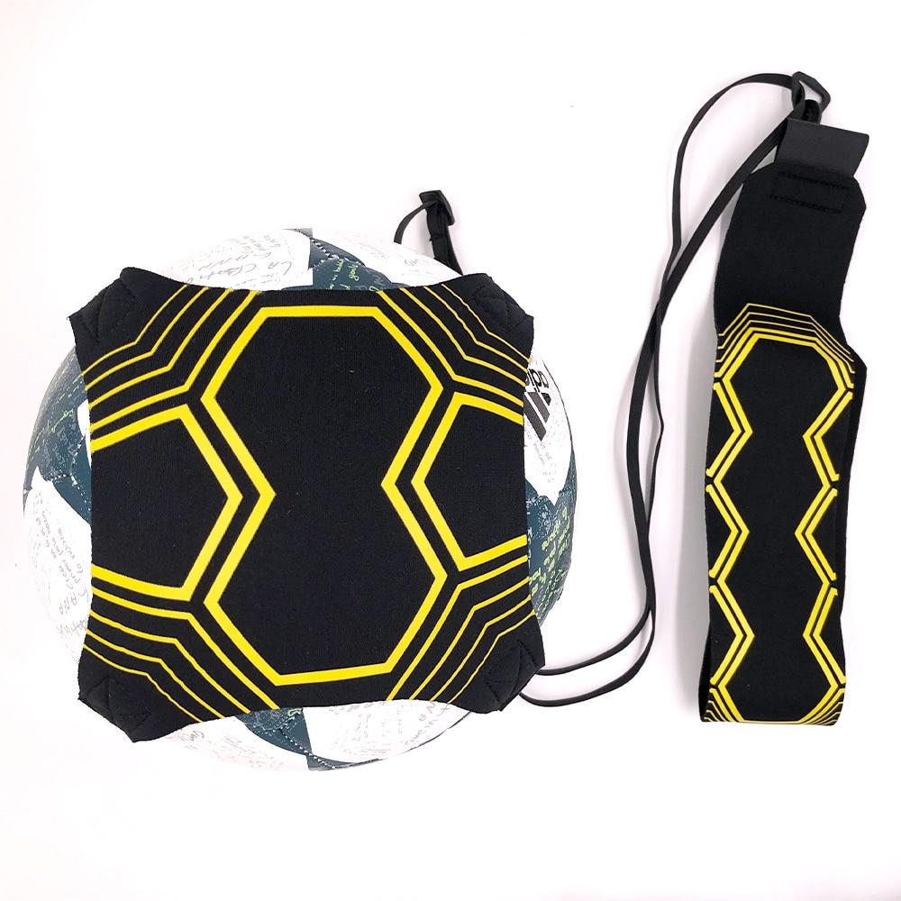 Equipo de entrenamiento de fútbol kick cinturón fútbol kick vuelta cinturón Trainer cabe bola 3 4 5 2018 principiantes práctica alta calidad