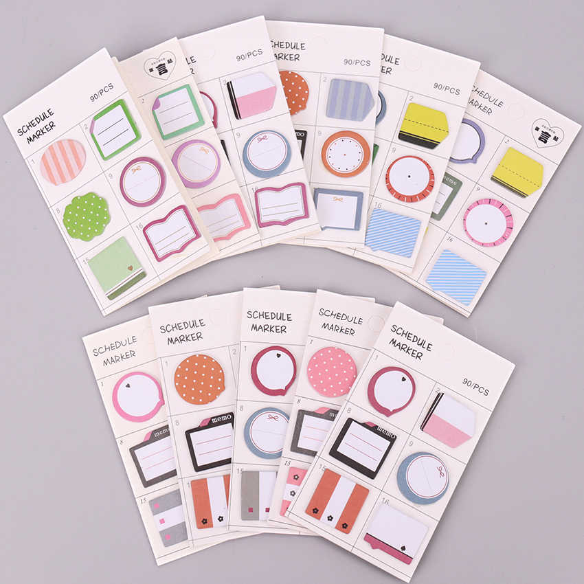 1PC Creative Cute Kawaii Paper Sticky Memo Pad Lovely Mini Note for Kids Gift Korean Stationery