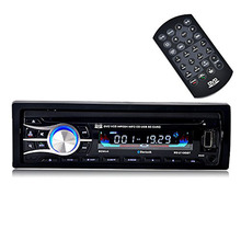 Wireless Remote Single-DIN Universal fix panel Car Stereo CD DVD MP3 Player Receiver with Bluetooth USB SD FM Radio MP3 In dash
