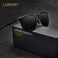 LOPERT Brand Unisex Aluminum Square Sunglasses Men Women Polarized Mirror Sun Glasses Female Glasses Accessories For