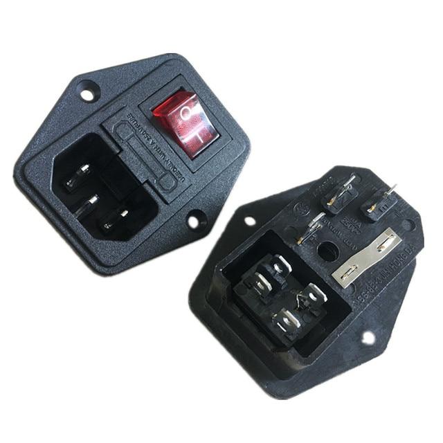 Interrupteur à bascule IEC 3 broches 320 C14 prises d'alimentation interrupteur connecteur prise 10A 250 V