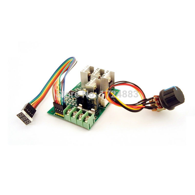 Pwm Dc Motor Speed Controller Digital Display 0~100% Adjustable Drive Module 6v~60v Input Max30a Electrical Equipments & Supplies Motors & Parts