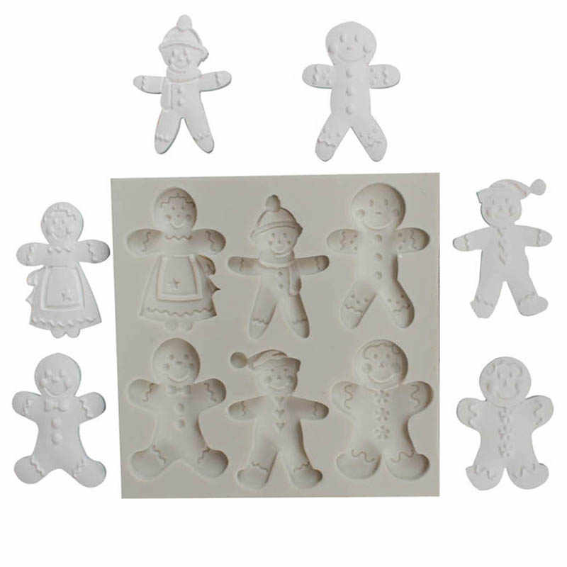 Christmas Gingerbread Man Silicone Cookie Mold Fondant