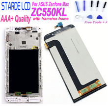 Original For ASUS Zenfone Max LCD Dual SIM 4G LTE Display Touch Screen ZC550KL Z010DA + Tools