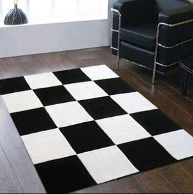 2016 BARU tiba Mode Acrylon hitam dan putih karpet karpet tikar - Tekstil rumah