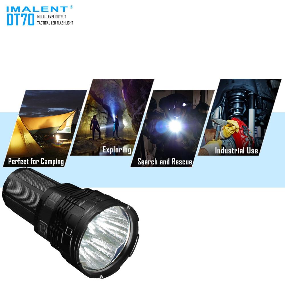 Alta Lumen luz da Busca IMALENT DT70 4 * XHP70 LEDs max. output 16000LM tocha alcance 700 metros lanterna com 4 pcs baterias
