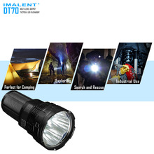 High Lumen Search light IMALENT DT70 4 *XHP70 LEDs max. output 16000LM torch throw 700 meters flashlight with 4pcs batteries super torch search flash light imalent dx80 8 creexhp70 max 32000 lumen beam built in most powerful flashlight 806 meter