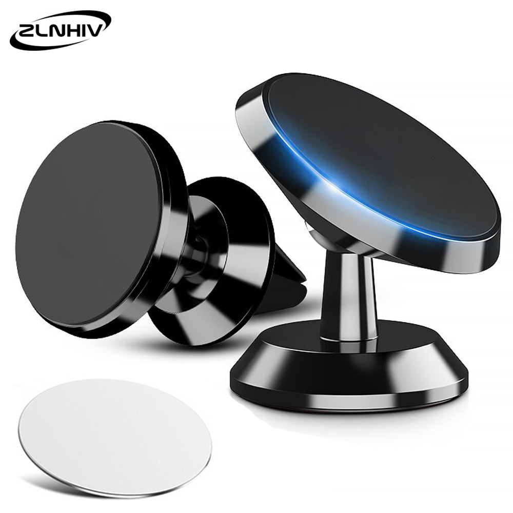 ZLNHIV magnetic holder for <font><b>phone</b></font> in <font><b>car</b></font> <font><b>mobile</b></font> cell stand mount support smartphone cellphone for iphone <font><b>accessories</b></font> round magnet image