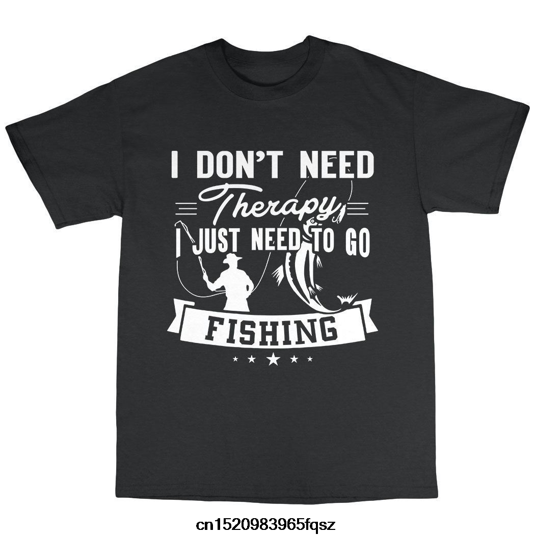 Crew Neck Fishinger Shirts Homme Novelty T Shirt Men'S Short Sleeve Therapy Fisherman Tackle Bait Gift Present Tee Shirts