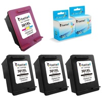 3 Black 1 Colour Printer Ink Cartridge For HP 301XL Deskjet 1050 2000 2050 3000