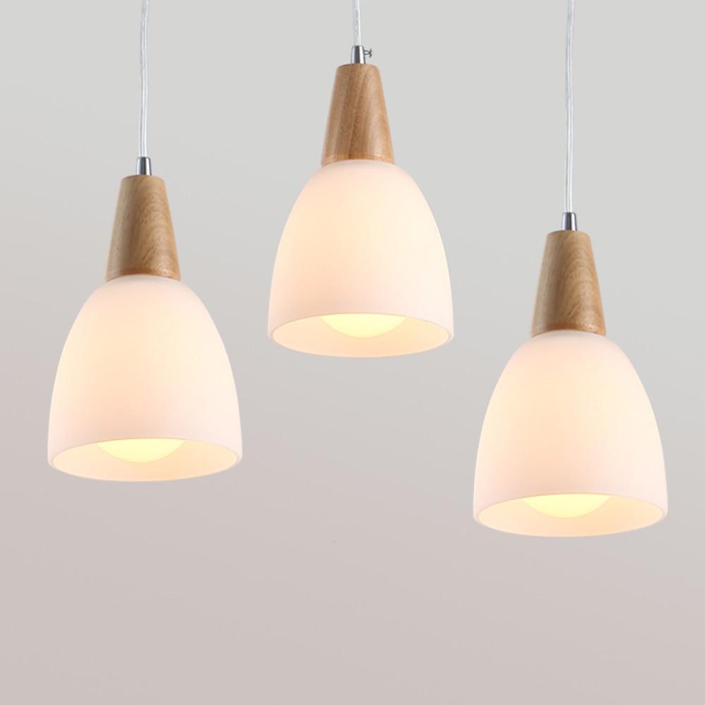 Modern Nordic Style Loft Lamp 110-220v Wood Design Pendant Lamp Led Home Lighting Living Room Pendant Lights Luminarias цена