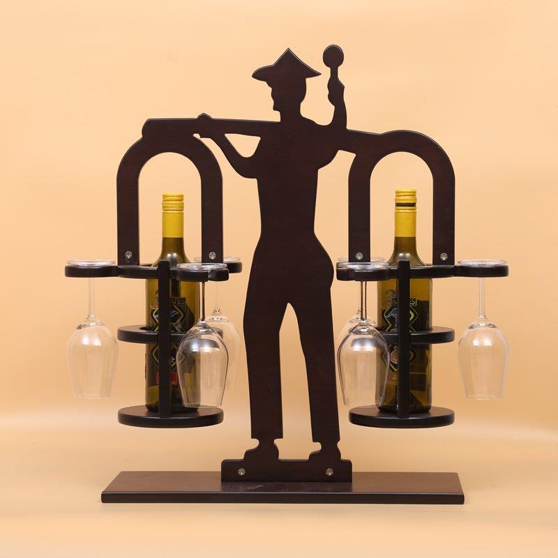 farmer wooden wine rack wine cup holder hanging stemware rack bar hanging upside down wine cooler - Wooden Wine Rack