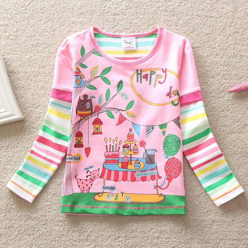 HTB1PehAgx3IL1JjSZPfq6ArUVXaw - Girls Long Sleeve All Year T-Shirt, Long Sleeve, Cotton, Various Designs and Prints